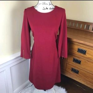 Laundry By Shelli Segal - Burgundy color dress
